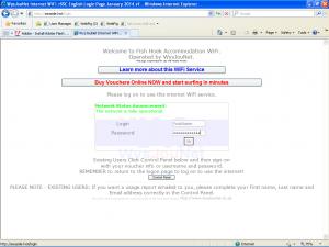 Internet Logon Screen